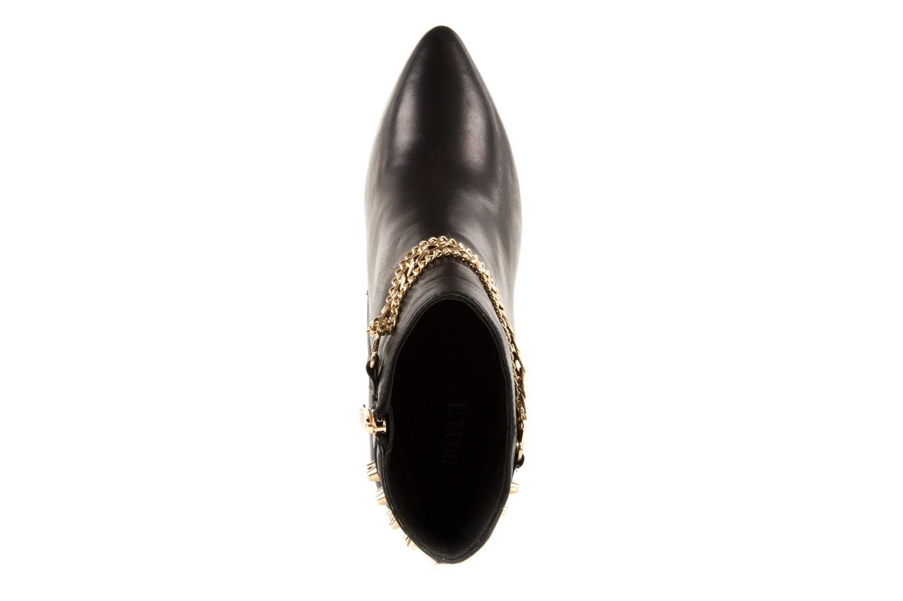 Botki bayla-106 4222004 black, czarny, skóra naturalna - na szpilce - botki - buty damskie - kobieta 10