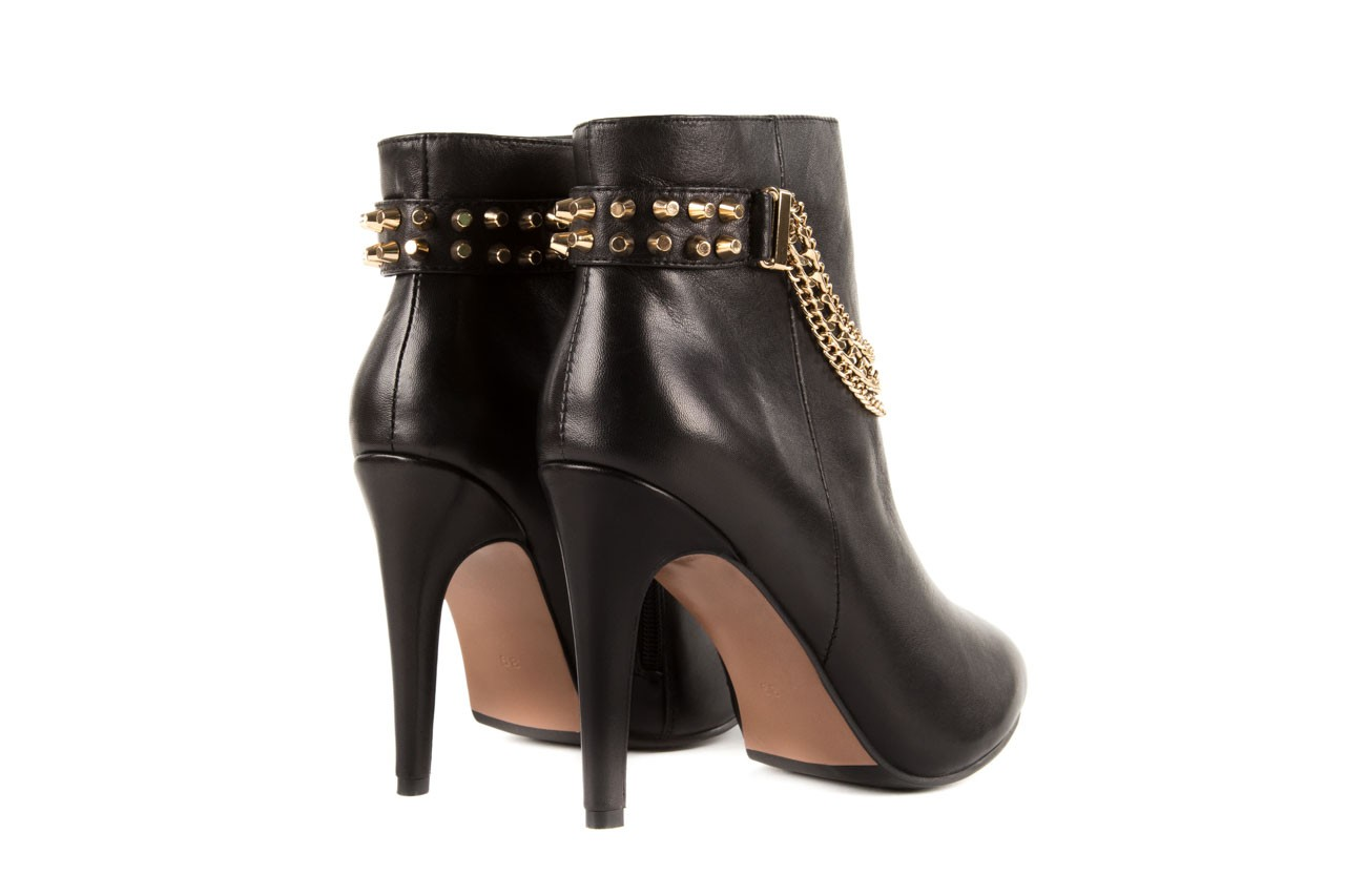 Botki bayla-106 4222004 black, czarny, skóra naturalna - na szpilce - botki - buty damskie - kobieta 9