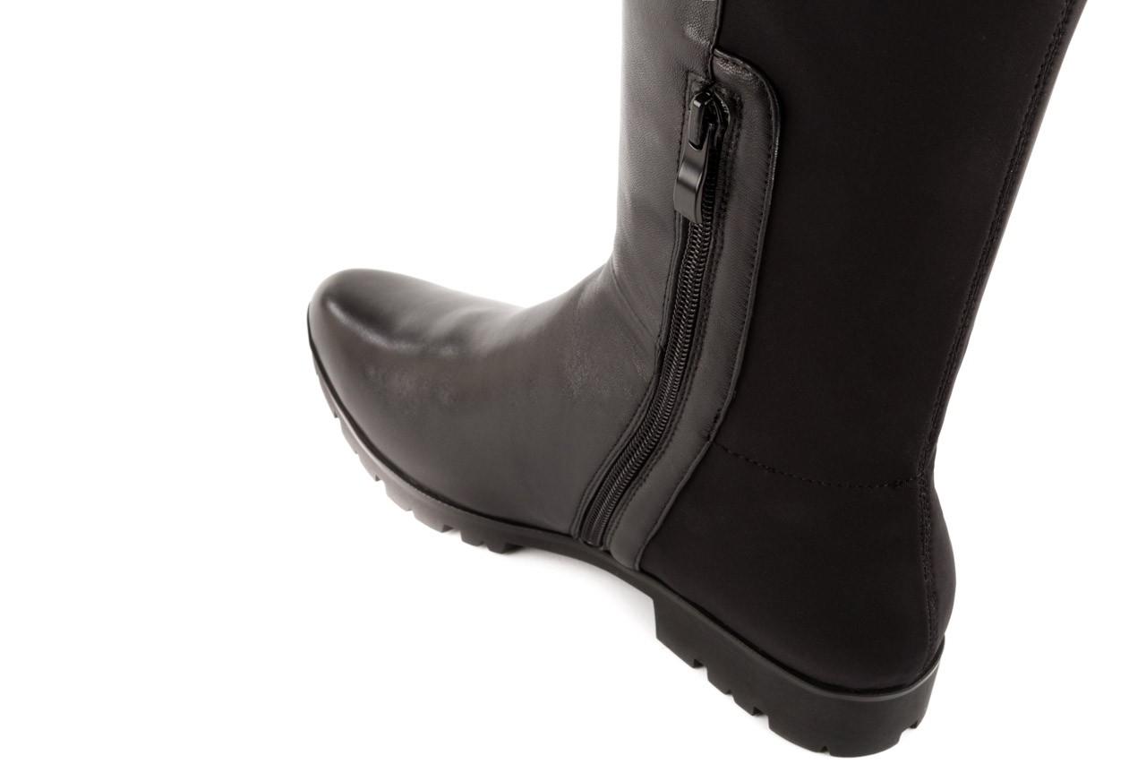 Kozaki bayla-106 4225009 black, czarny, skóra naturalna/materiał - za kolano / muszkieterki - kozaki - buty damskie - kobieta 9