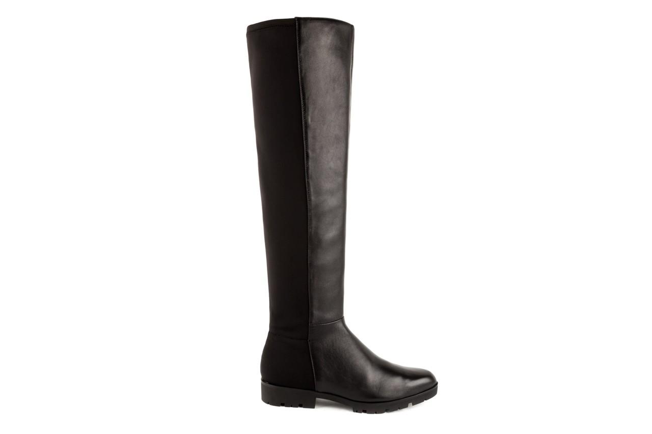 Kozaki bayla-106 4225009 black, czarny, skóra naturalna/materiał - za kolano / muszkieterki - kozaki - buty damskie - kobieta 5