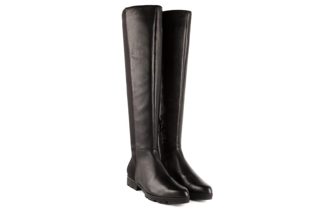 Kozaki bayla-106 4225009 black, czarny, skóra naturalna/materiał - za kolano / muszkieterki - kozaki - buty damskie - kobieta 6