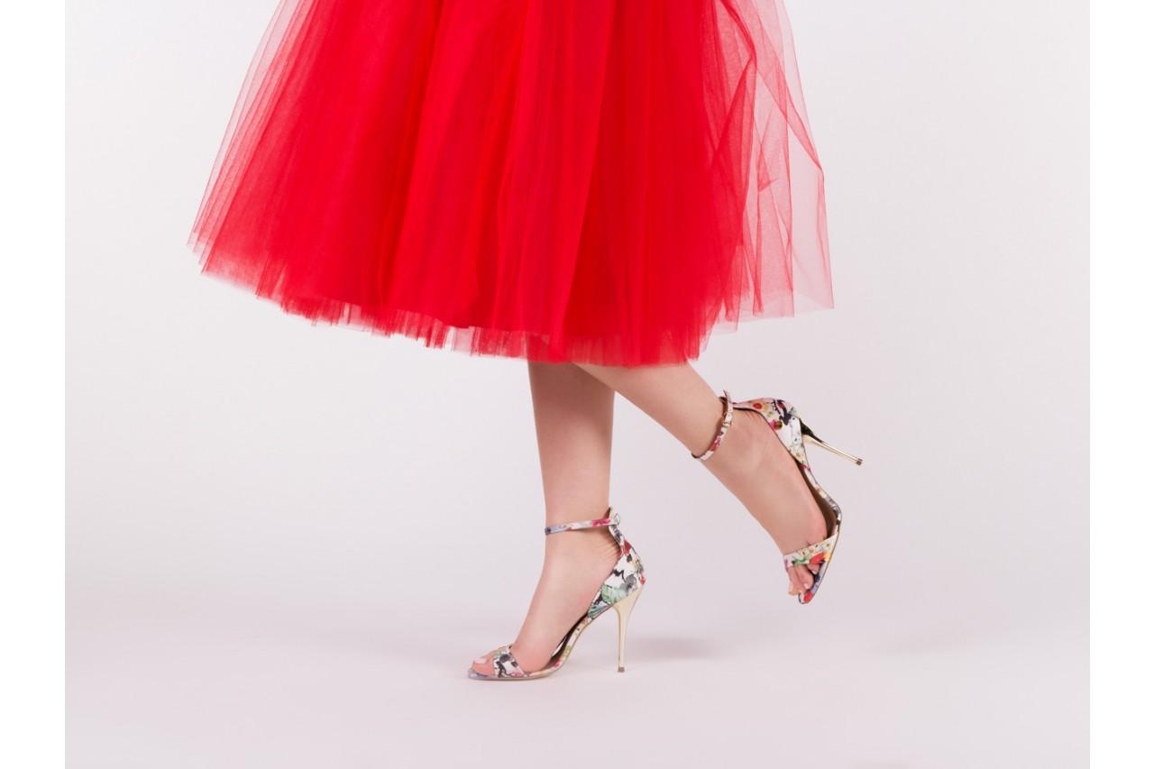 Sandały bayla-109 914002 satin flora, wielkolorowy, materiał - bayla - nasze marki 13