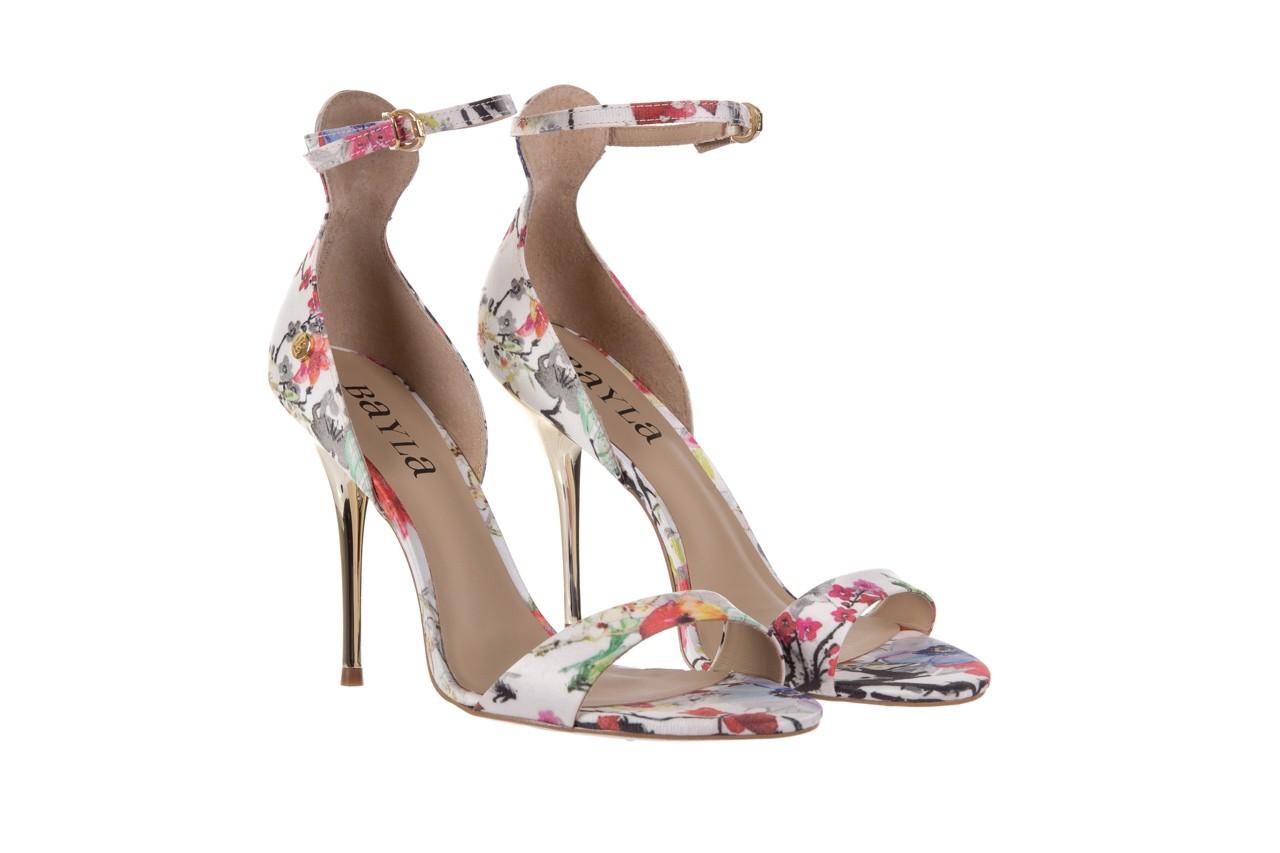 Sandały bayla-109 914002 satin flora, wielkolorowy, materiał - bayla - nasze marki 8