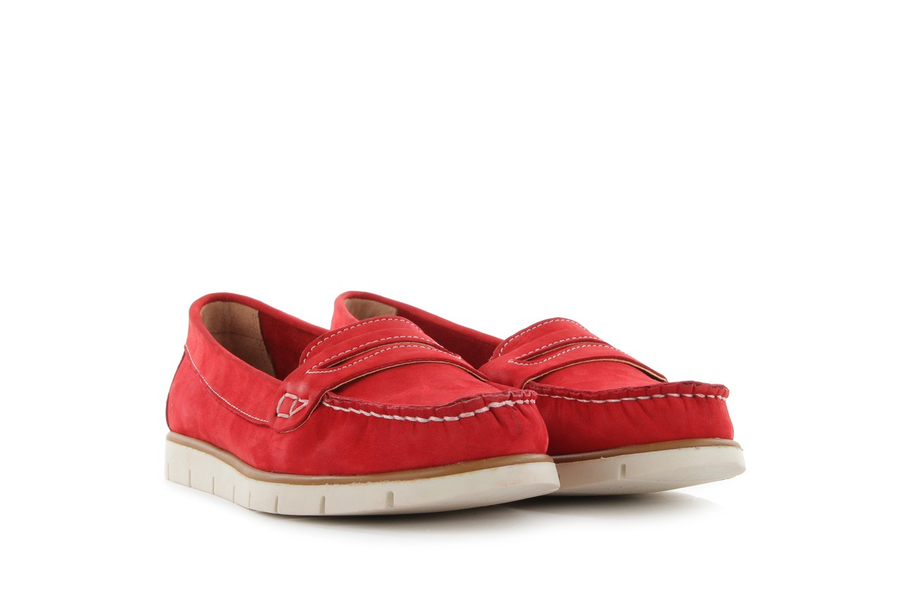 Mokasyny bayla-112 058-519 15yy byn kirmizi nubuck - red, czerwony, skóra naturalna - bayla - nasze marki 7