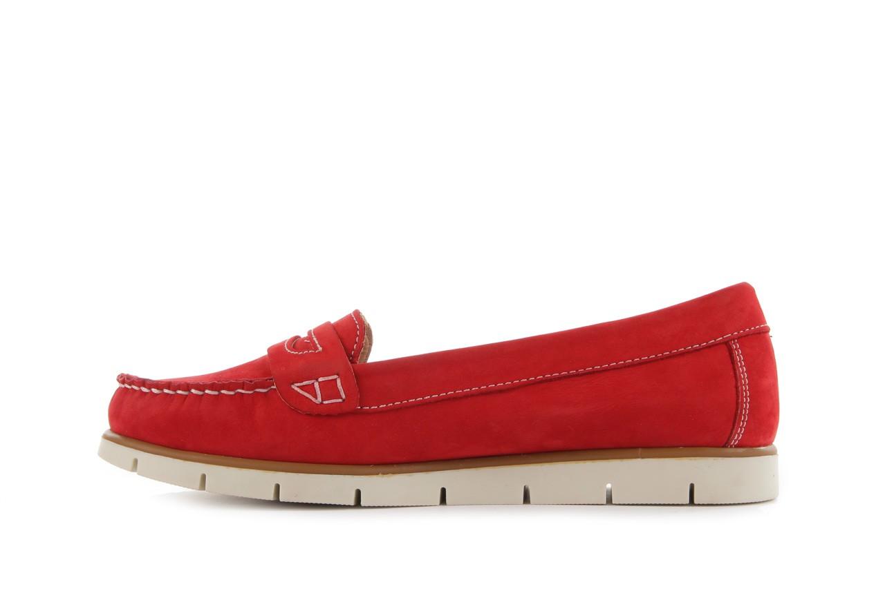 Mokasyny bayla-112 058-519 15yy byn kirmizi nubuck - red, czerwony, skóra naturalna - bayla - nasze marki 8