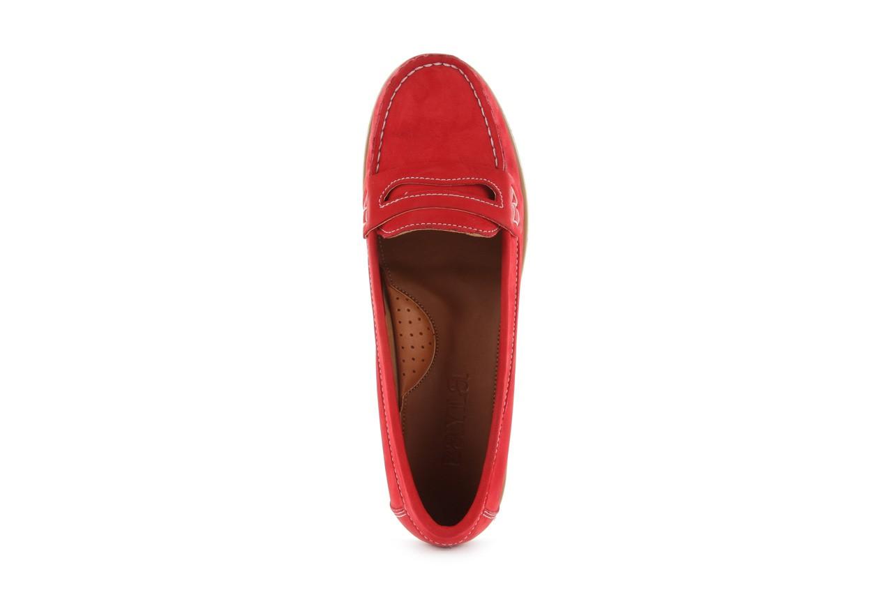 Mokasyny bayla-112 058-519 15yy byn kirmizi nubuck - red, czerwony, skóra naturalna - bayla - nasze marki 10