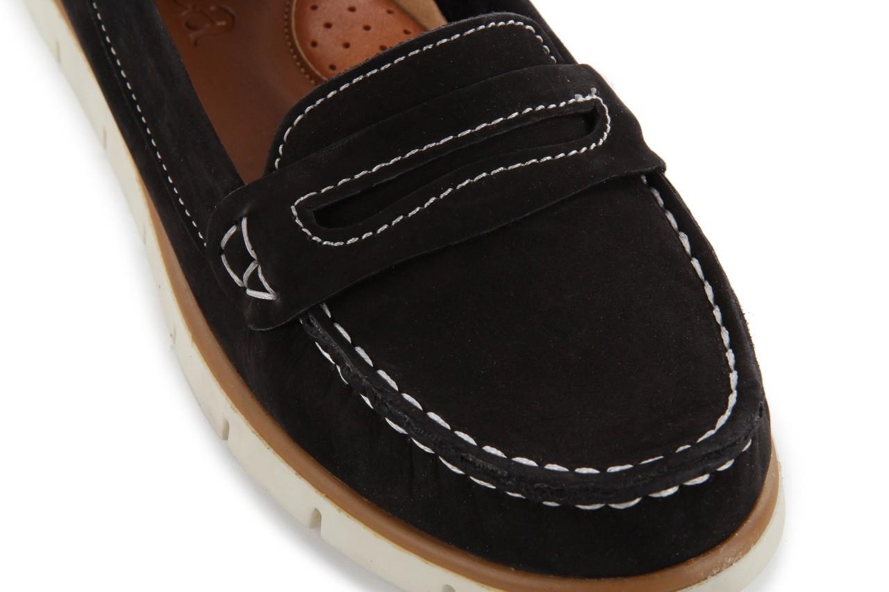 Mokasyny bayla-112 058-519 15yy byn siyah nubuck - black, czarny, skóra naturalna 11