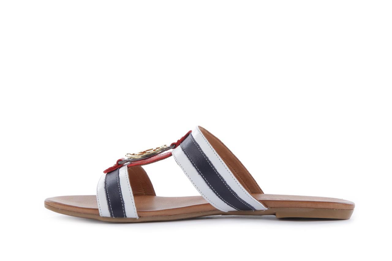 Klapki bayla-112 243-460 by byz laci krmz - white navy red 16, biały/niebieski/czerwony, skóra naturalna - bayla - nasze marki 8