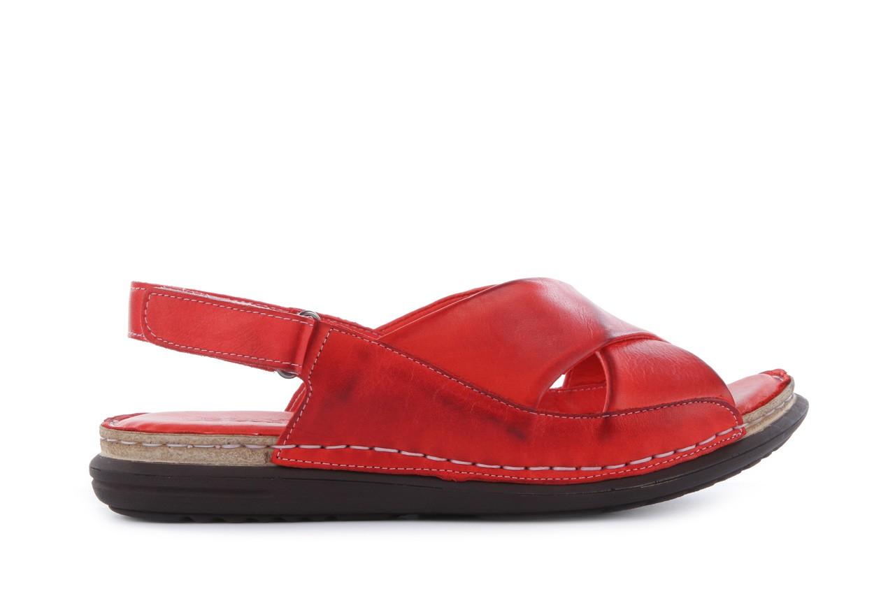 Sandały bayla-112 473-462-329 kirmizi - red , czerwony, skóra naturalna - bayla - nasze marki 7