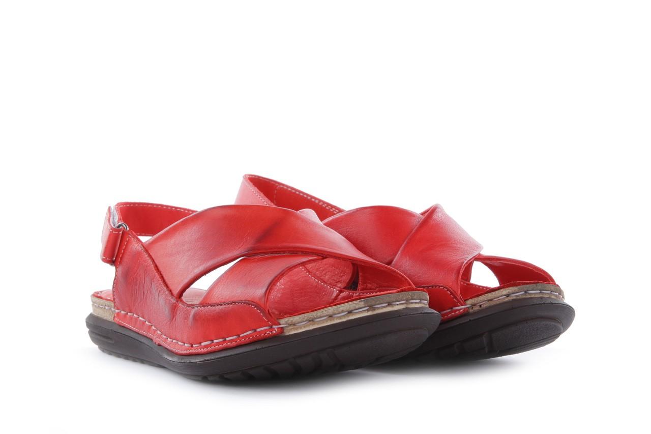 Sandały bayla-112 473-462-329 kirmizi - red , czerwony, skóra naturalna - bayla - nasze marki 8