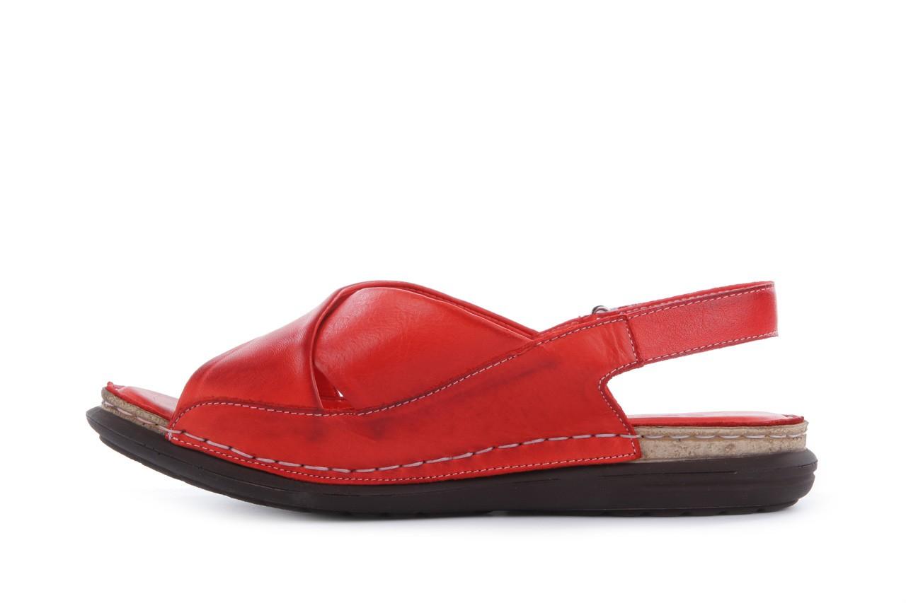 Sandały bayla-112 473-462-329 kirmizi - red , czerwony, skóra naturalna - bayla - nasze marki 9