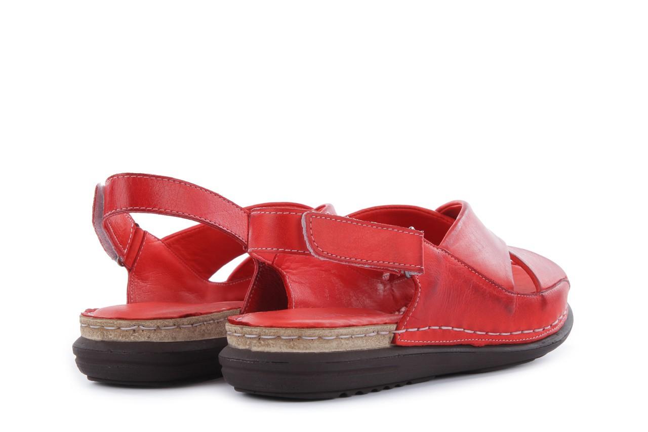 Sandały bayla-112 473-462-329 kirmizi - red , czerwony, skóra naturalna - bayla - nasze marki 10