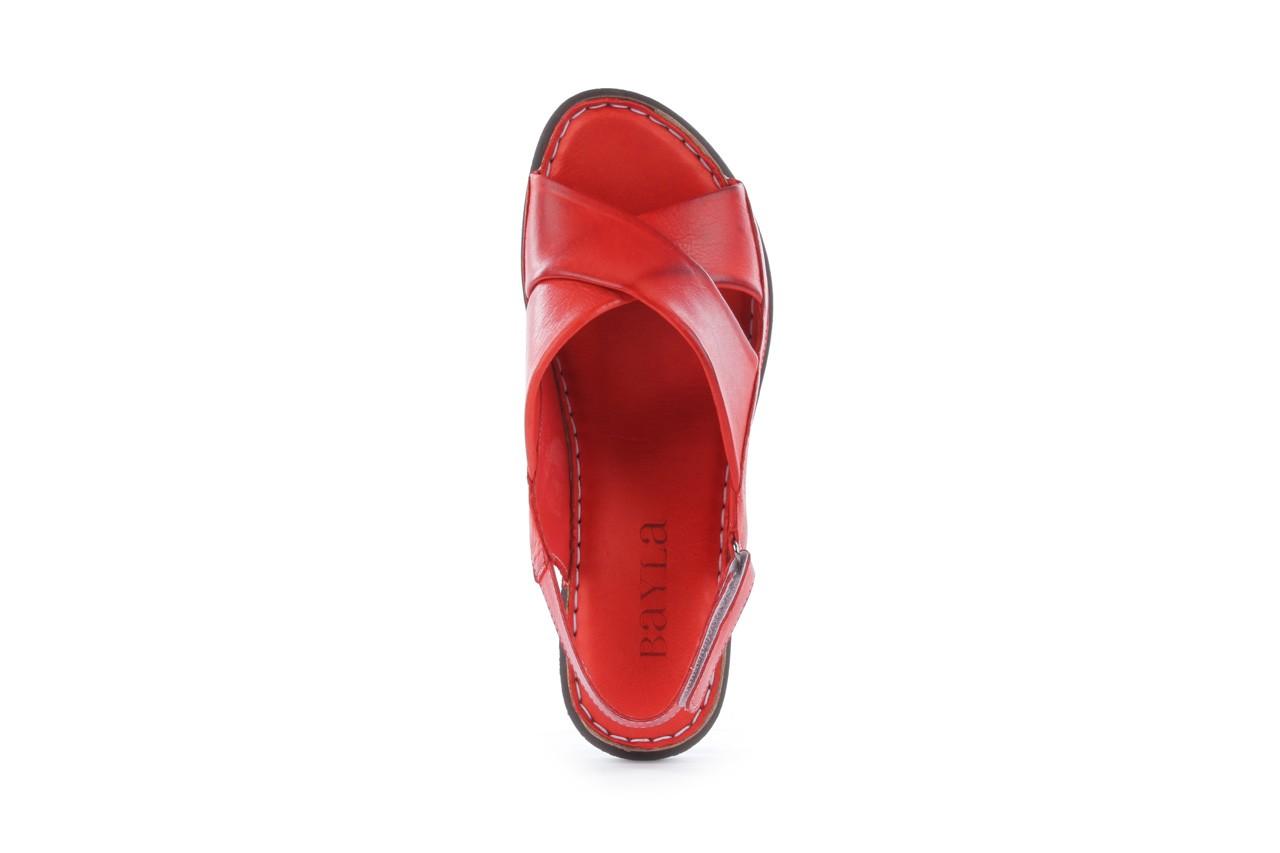 Sandały bayla-112 473-462-329 kirmizi - red , czerwony, skóra naturalna - bayla - nasze marki 11