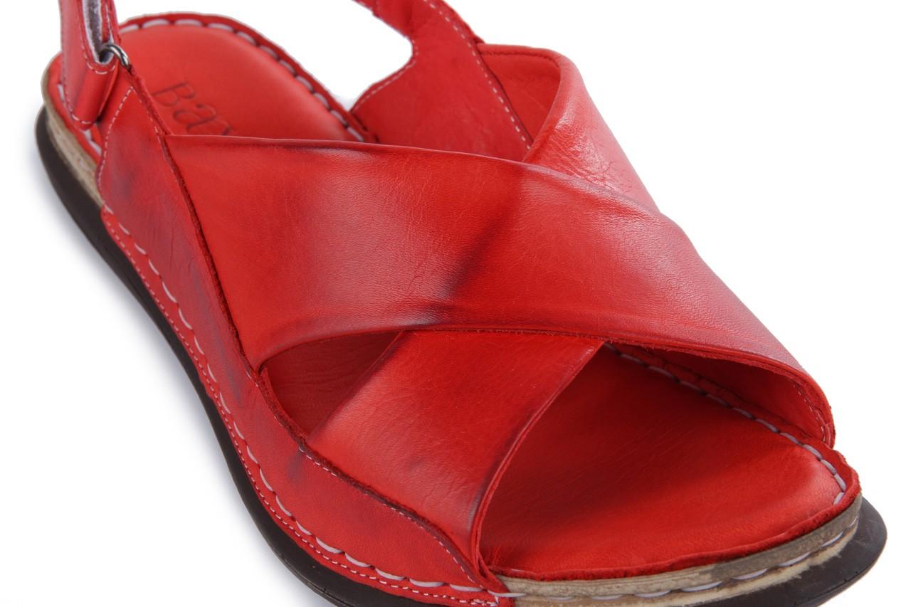 Sandały bayla-112 473-462-329 kirmizi - red , czerwony, skóra naturalna - bayla - nasze marki 12