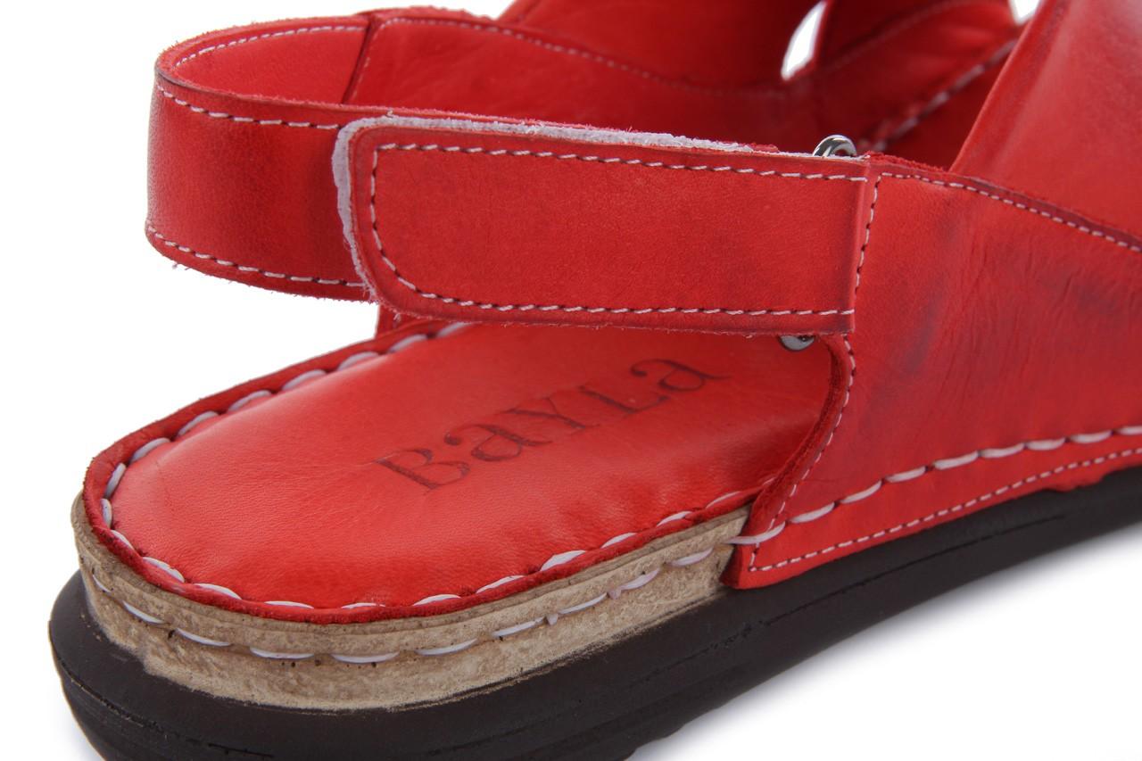 Sandały bayla-112 473-462-329 kirmizi - red , czerwony, skóra naturalna - bayla - nasze marki 13