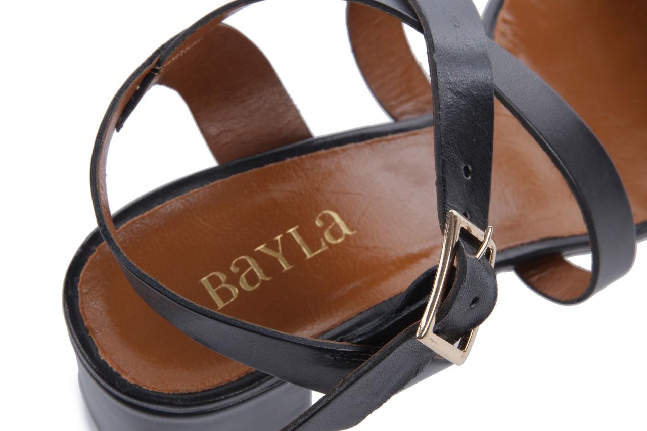 Sandały bayla-114 1310 nero, czarny, skóra naturalna - bayla - nasze marki 13