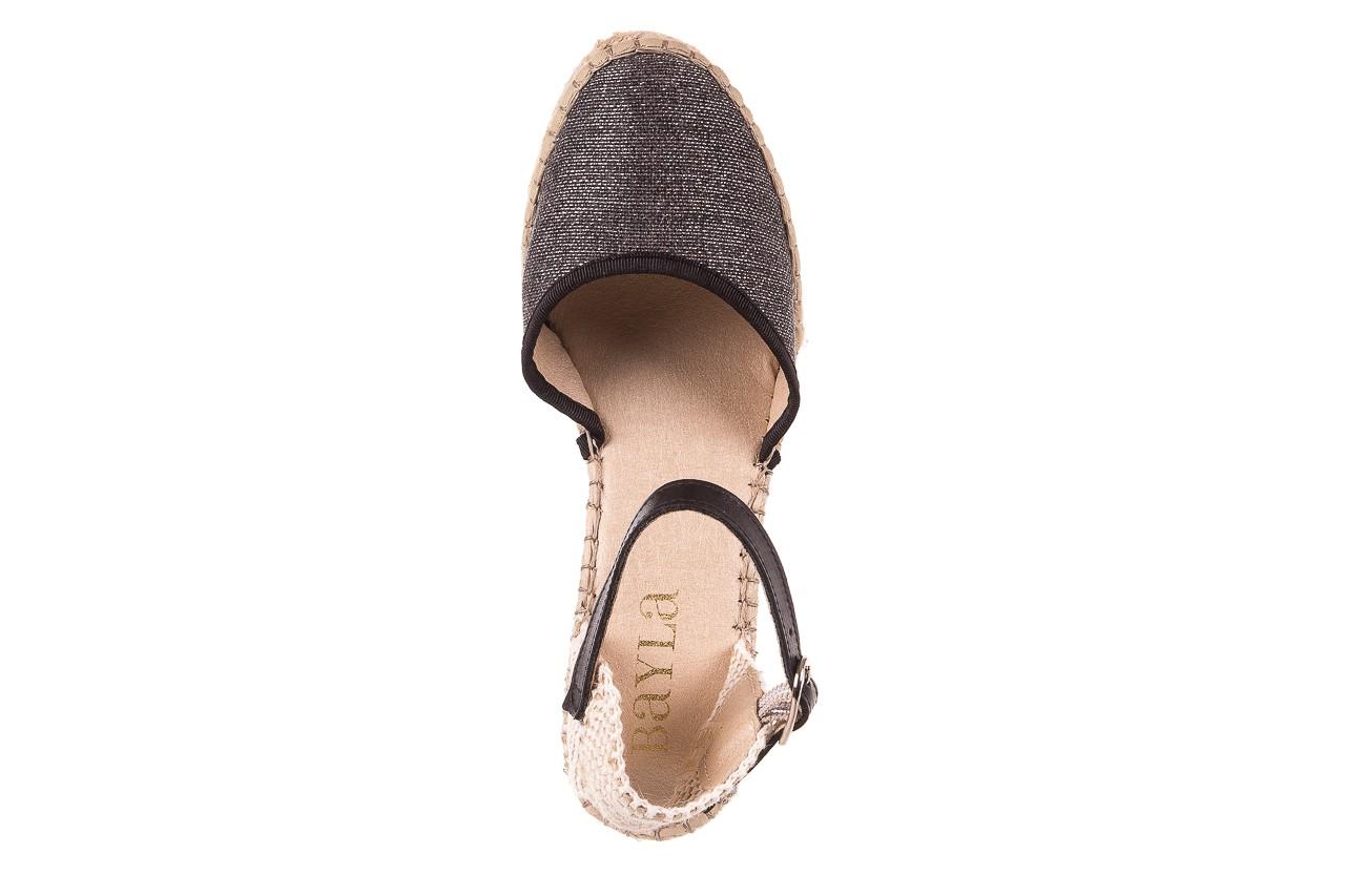 Espadryle bayla-115 402009 lory negro, czarny/srebrny, materiał  - espadryle - buty damskie - kobieta 11
