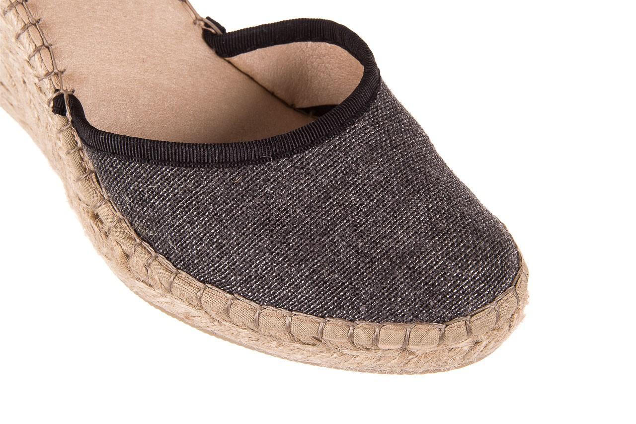 Espadryle bayla-115 402009 lory negro, czarny/srebrny, materiał  - espadryle - buty damskie - kobieta 12