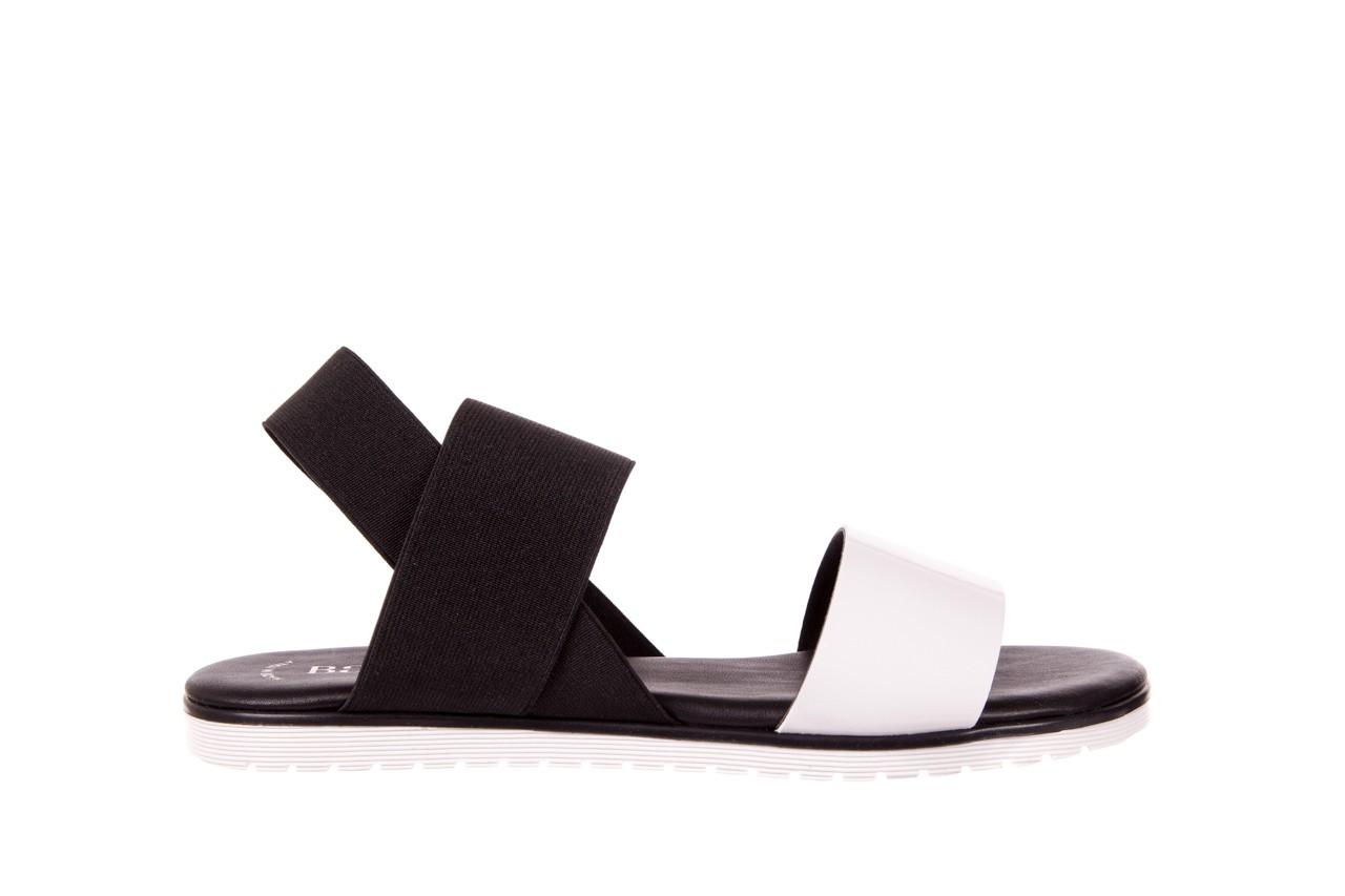 Sandały bayla-116 16161 white black black, czarny/ biały, materiał  - bayla - nasze marki 5