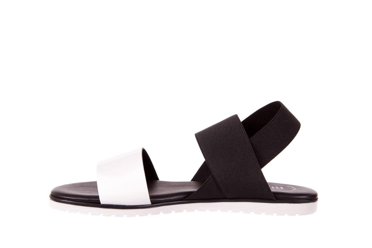 Sandały bayla-116 16161 white black black, czarny/ biały, materiał  - bayla - nasze marki 7