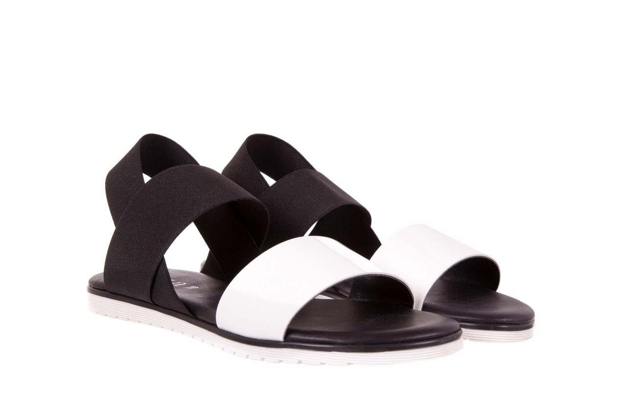 Sandały bayla-116 16161 white black black, czarny/ biały, materiał  - bayla - nasze marki 6