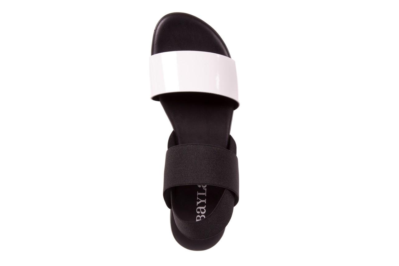 Sandały bayla-116 16161 white black black, czarny/ biały, materiał  - bayla - nasze marki 9