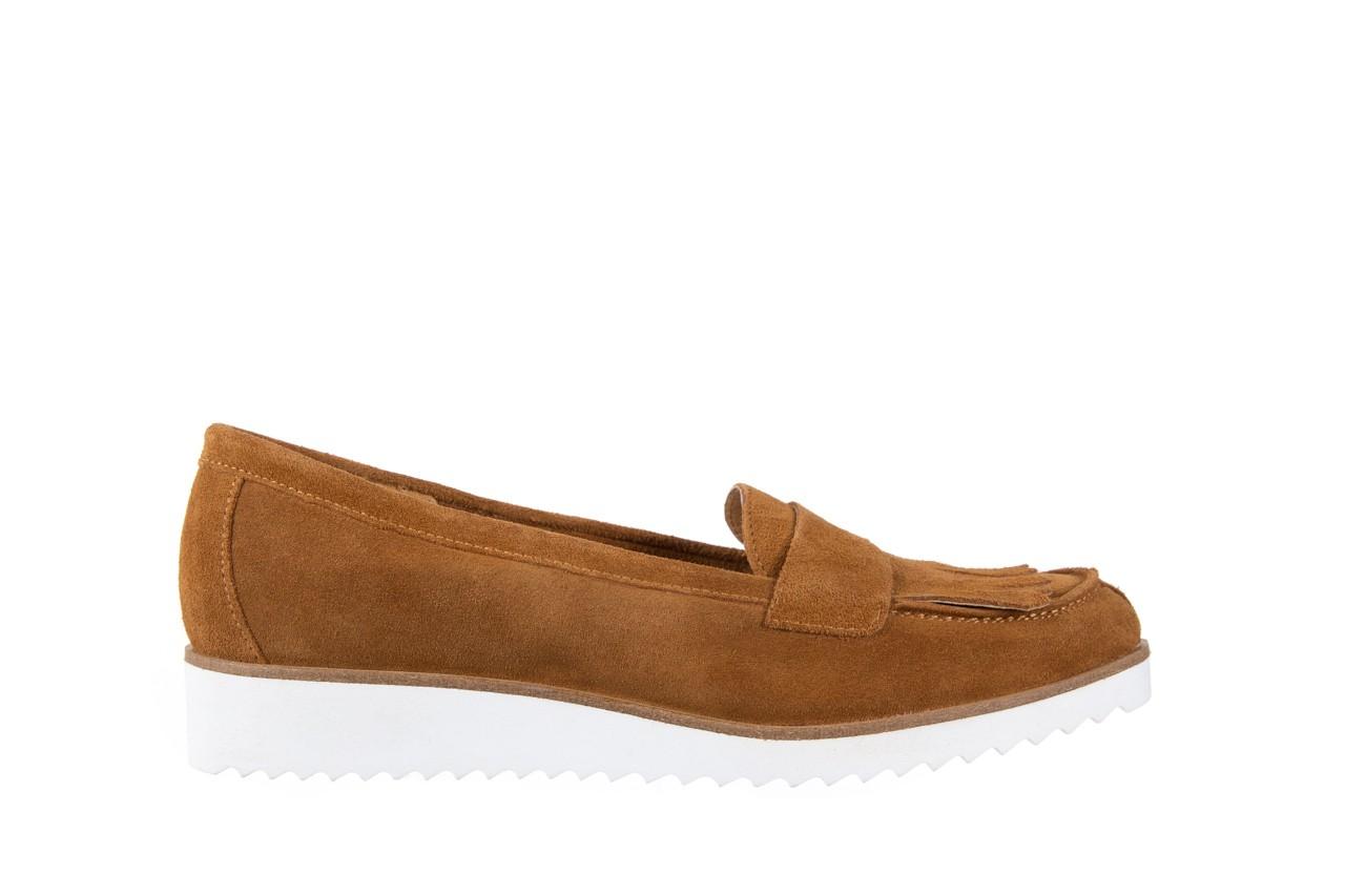 Mokasyny bayla-118 3076 crosta cuoio, brąz, skóra naturalna  - zamszowe - półbuty - buty damskie - kobieta 7