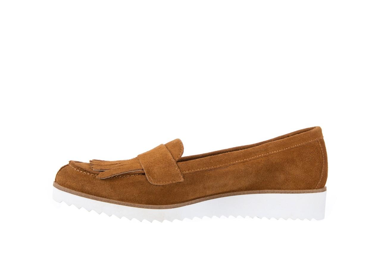 Mokasyny bayla-118 3076 crosta cuoio, brąz, skóra naturalna  - zamszowe - półbuty - buty damskie - kobieta 9