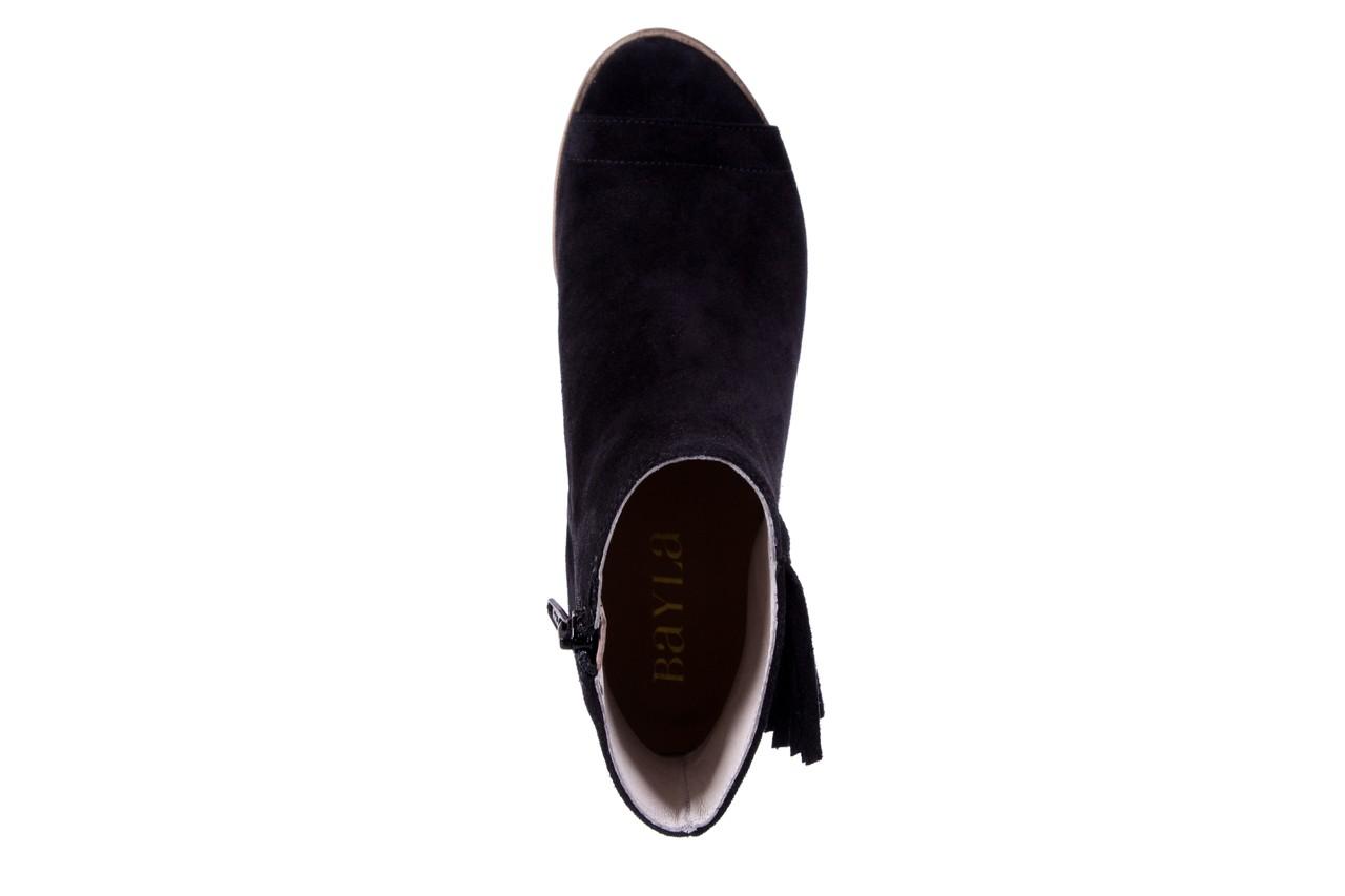 Botki bayla-118 3113 crosta nero, czarny, skóra naturalna  - kowbojki / boho - botki - buty damskie - kobieta 12