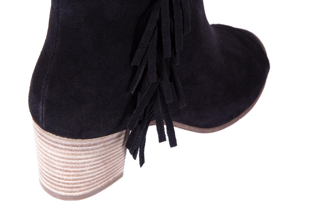 Botki bayla-118 3113 crosta nero, czarny, skóra naturalna  - kowbojki / boho - botki - buty damskie - kobieta 9