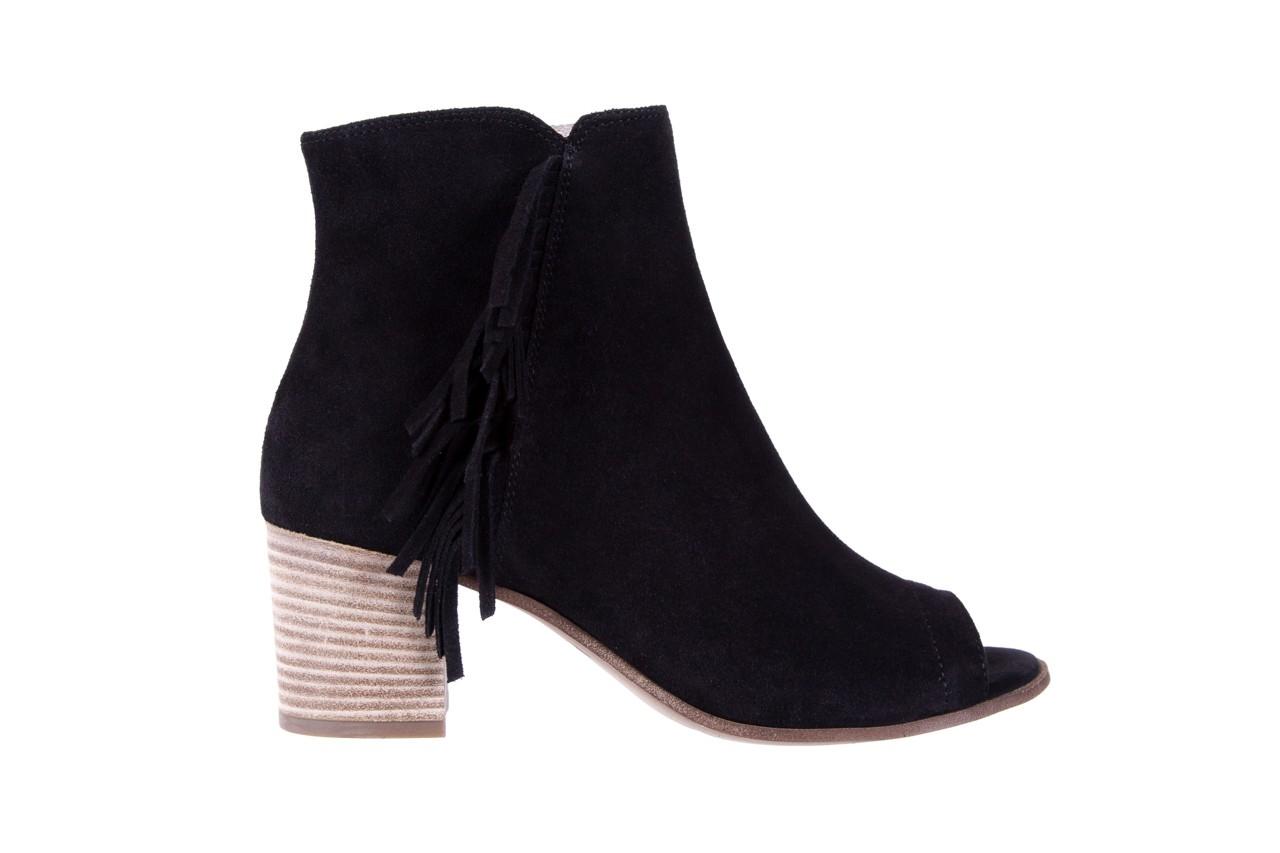 Botki bayla-118 3113 crosta nero, czarny, skóra naturalna  - kowbojki / boho - botki - buty damskie - kobieta 7