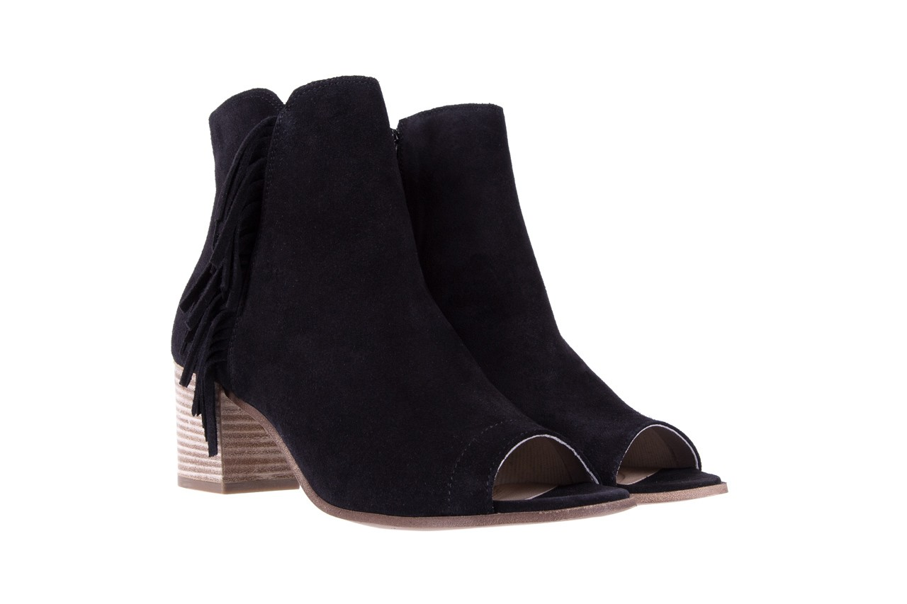 Botki bayla-118 3113 crosta nero, czarny, skóra naturalna  - kowbojki / boho - botki - buty damskie - kobieta 8