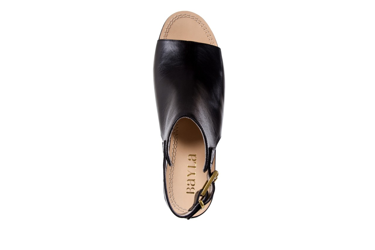 Sandały bayla-118 5056 flag nero, czarny, skóra naturalna  - bayla - nasze marki 11