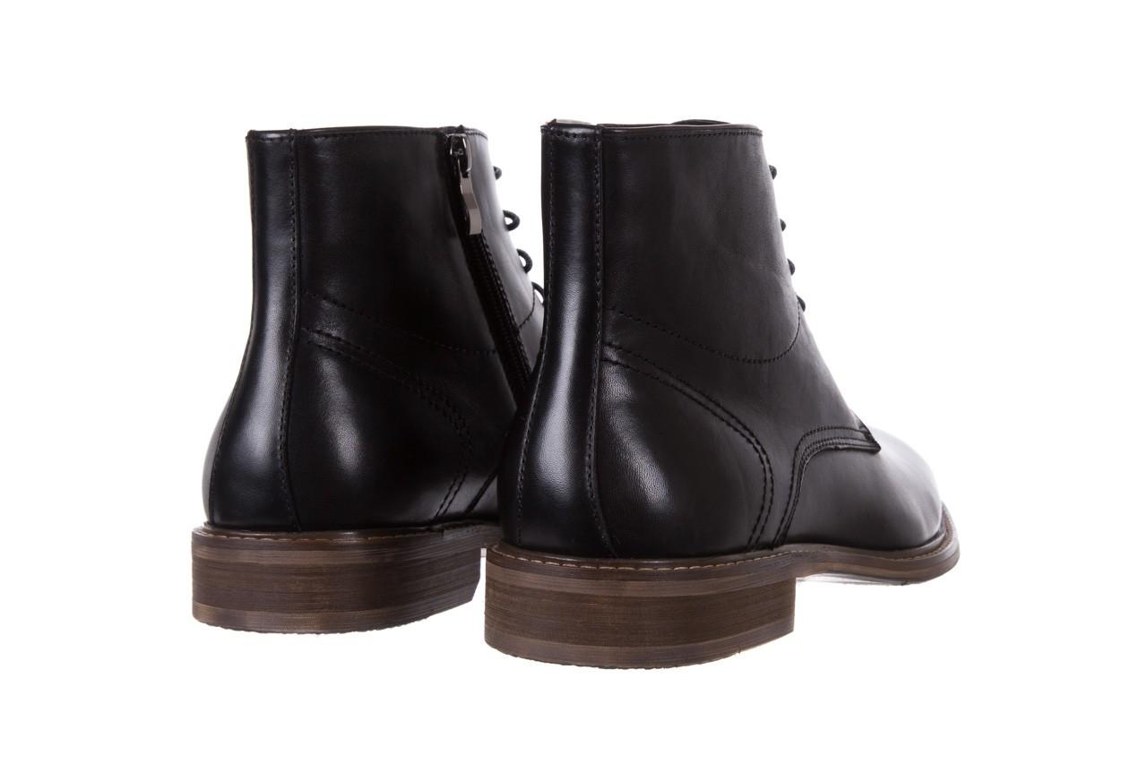 Trzewiki bayla-122 at1315-4 black, czarny, skóra naturalna  - trzewiki - buty męskie - mężczyzna 9