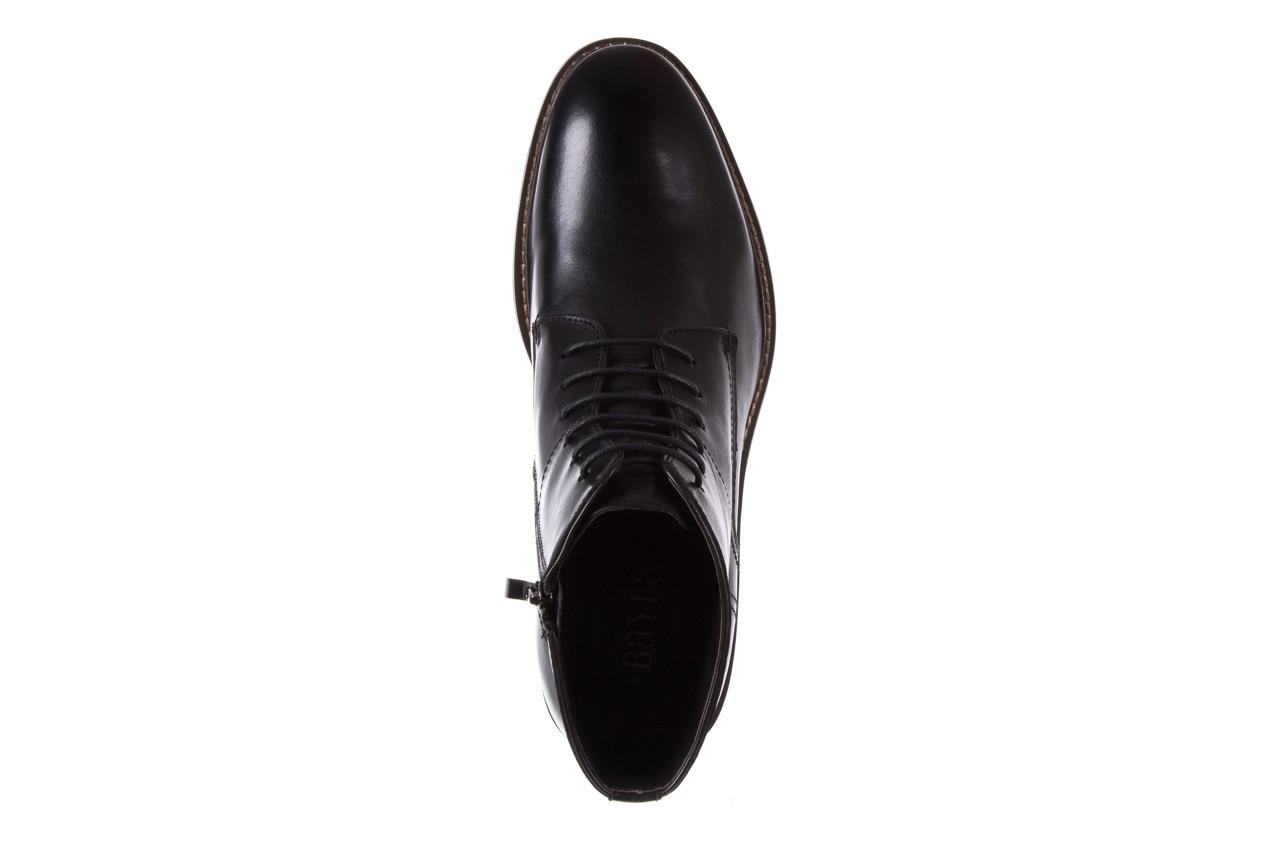 Trzewiki bayla-122 at1315-4 black, czarny, skóra naturalna  - trzewiki - buty męskie - mężczyzna 10