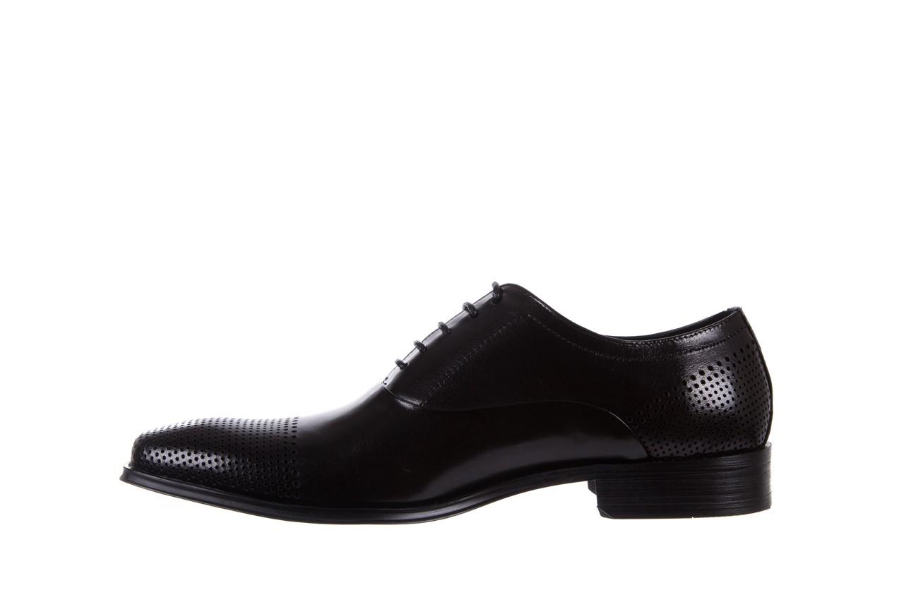 Półbuty bayla-122 at1328-1 black, czarny, skóra naturalna  - obuwie wizytowe - buty męskie - mężczyzna 8