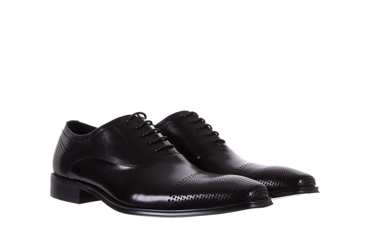 Półbuty bayla-122 at1328-1 black, czarny, skóra naturalna  - obuwie wizytowe - buty męskie - mężczyzna 7