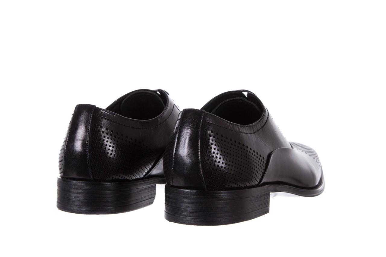 Półbuty bayla-122 at1328-1 black, czarny, skóra naturalna  - obuwie wizytowe - buty męskie - mężczyzna 9