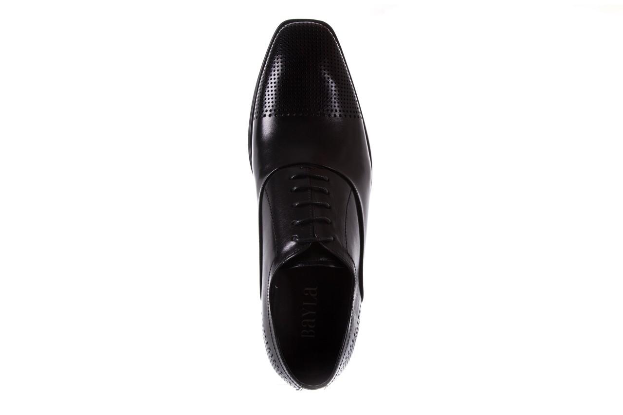 Półbuty bayla-122 at1328-1 black, czarny, skóra naturalna  - obuwie wizytowe - buty męskie - mężczyzna 10