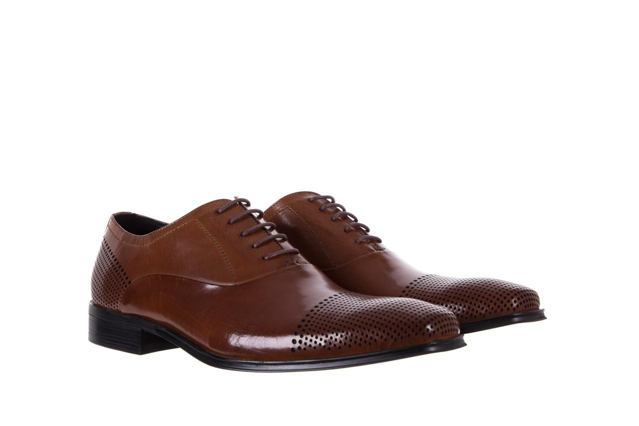 Półbuty bayla-122 at1328-1 brown, brąz, skóra naturalna  - obuwie wizytowe - buty męskie - mężczyzna 7