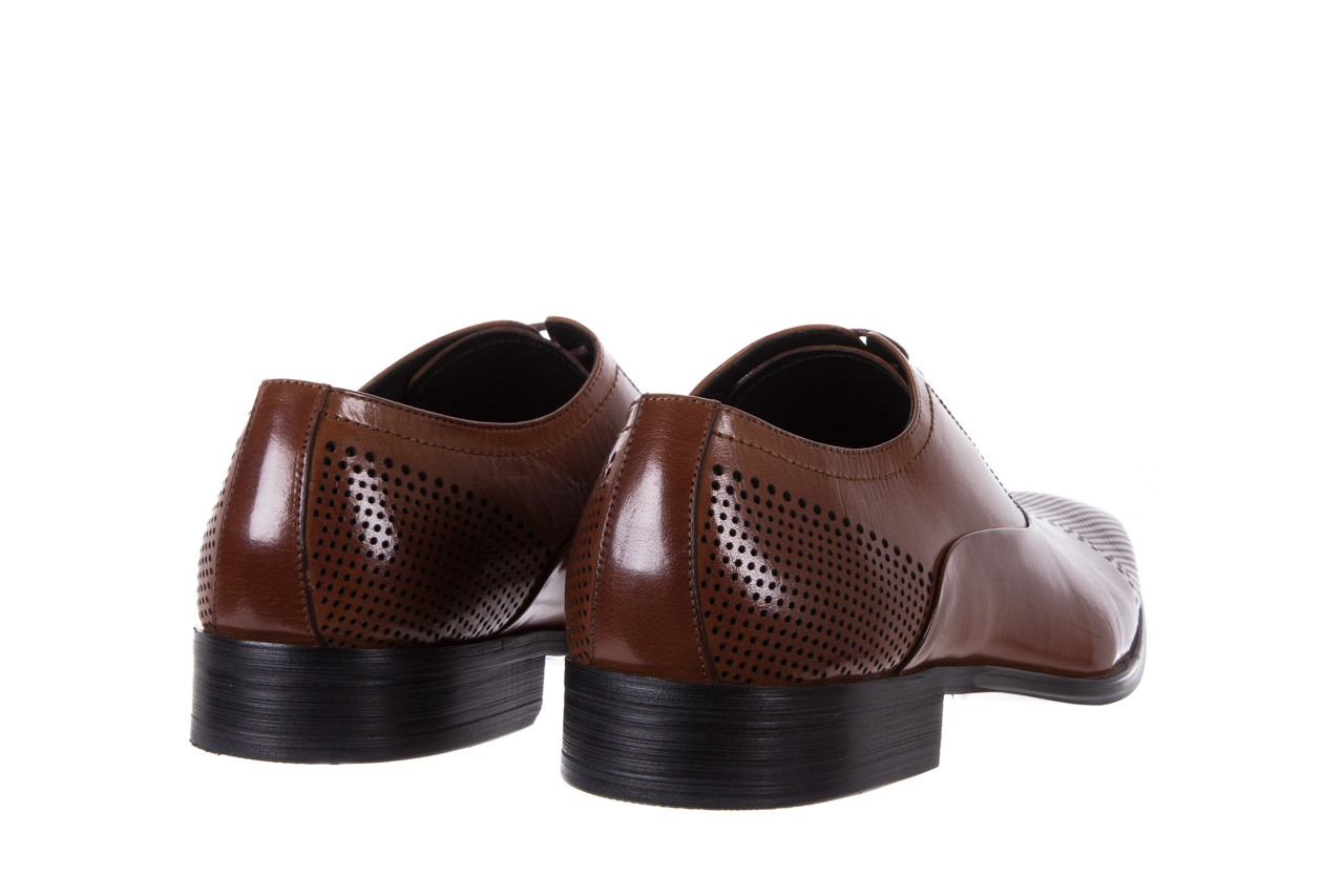 Półbuty bayla-122 at1328-1 brown, brąz, skóra naturalna  - obuwie wizytowe - buty męskie - mężczyzna 9