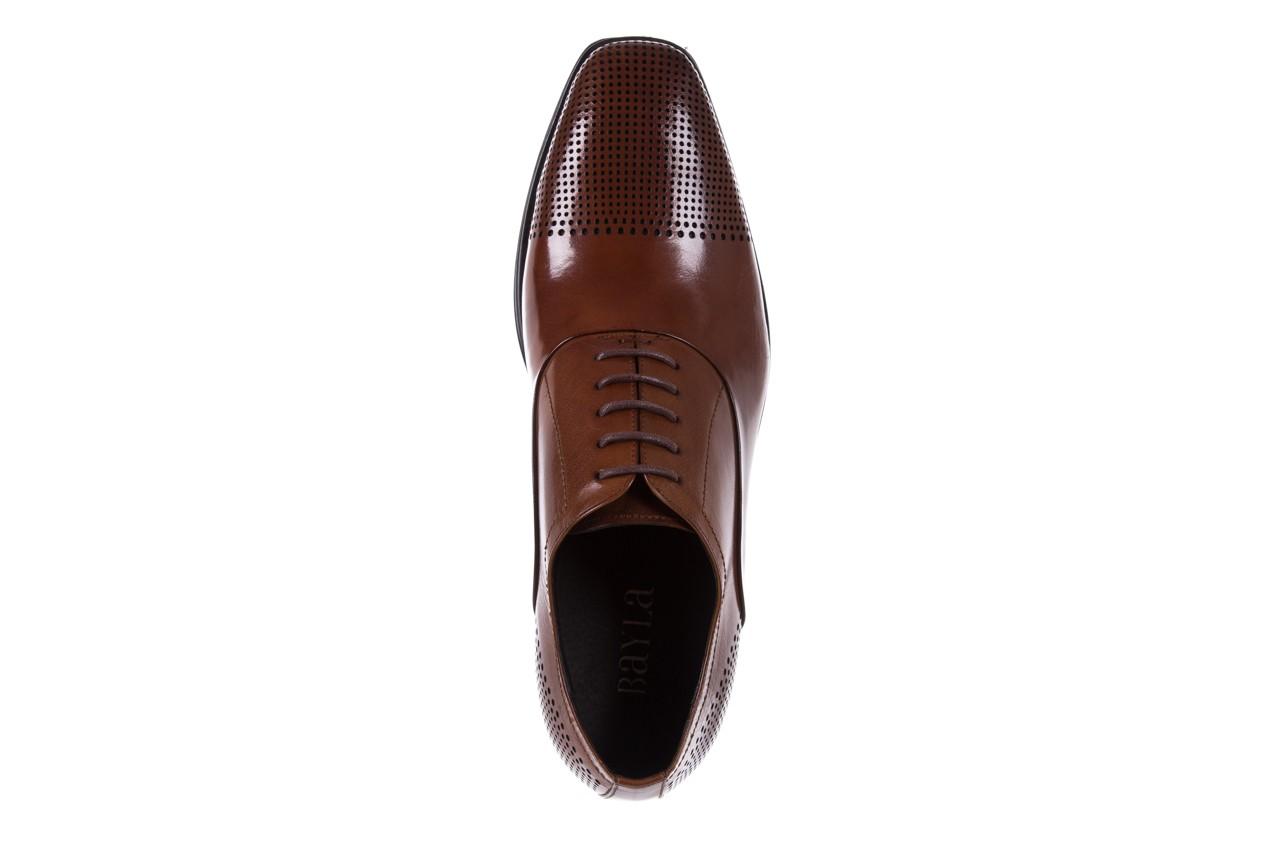 Półbuty bayla-122 at1328-1 brown, brąz, skóra naturalna  - obuwie wizytowe - buty męskie - mężczyzna 10