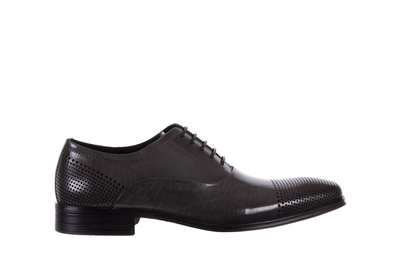 Półbuty bayla-122 at1328-1 grey, szary, skóra naturalna  - obuwie wizytowe - buty męskie - mężczyzna 6