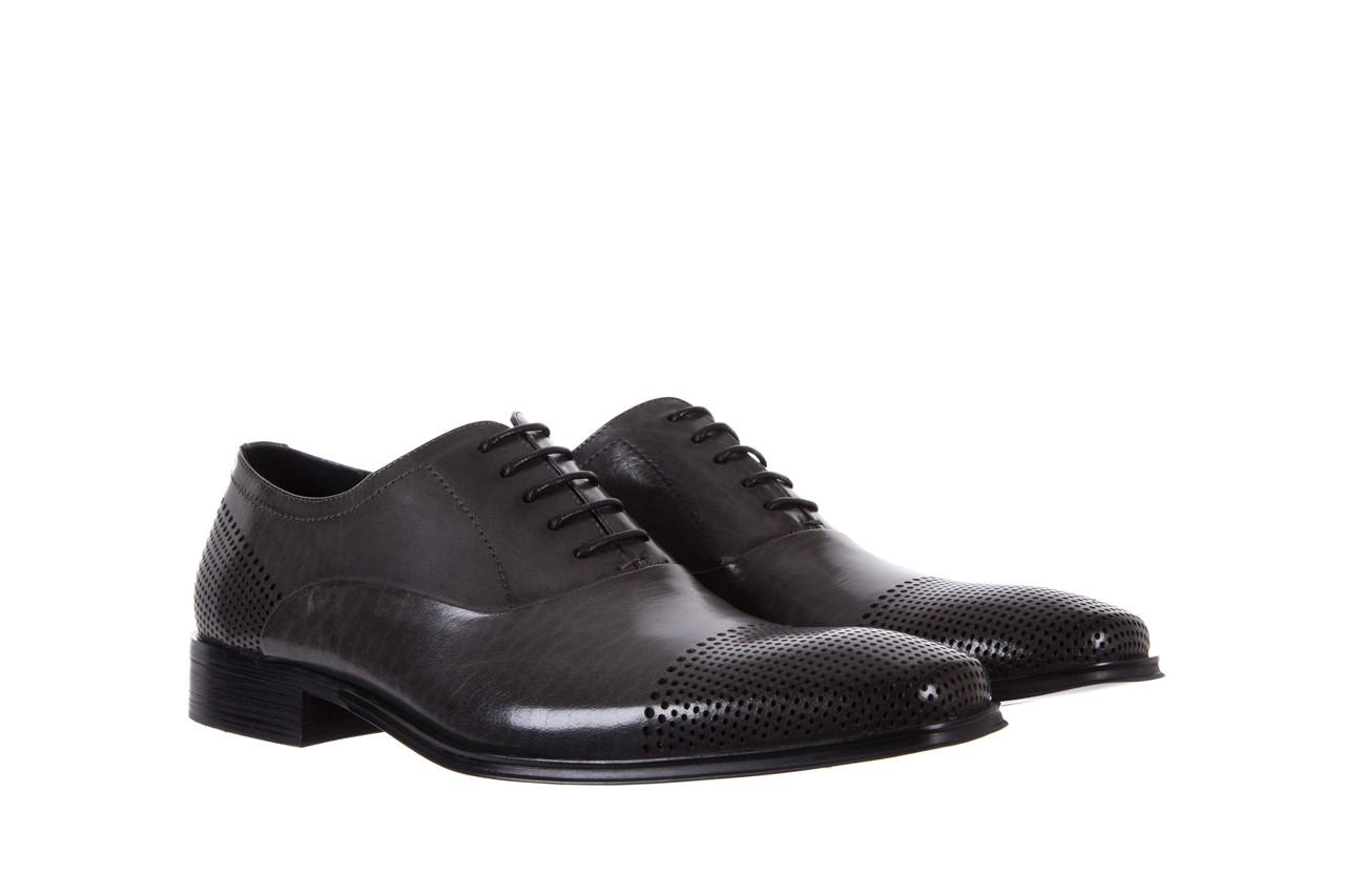 Półbuty bayla-122 at1328-1 grey, szary, skóra naturalna  - obuwie wizytowe - buty męskie - mężczyzna 7