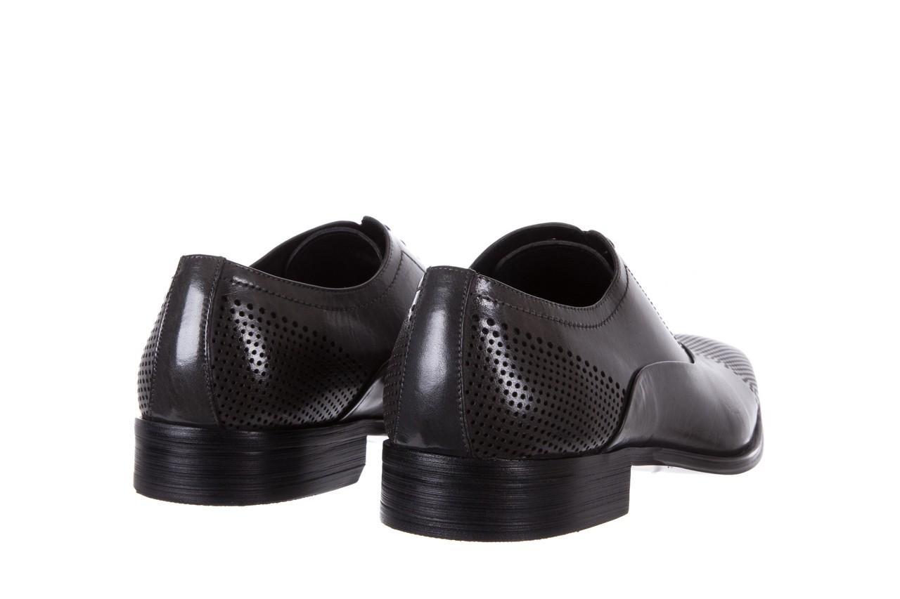 Półbuty bayla-122 at1328-1 grey, szary, skóra naturalna  - obuwie wizytowe - buty męskie - mężczyzna 9