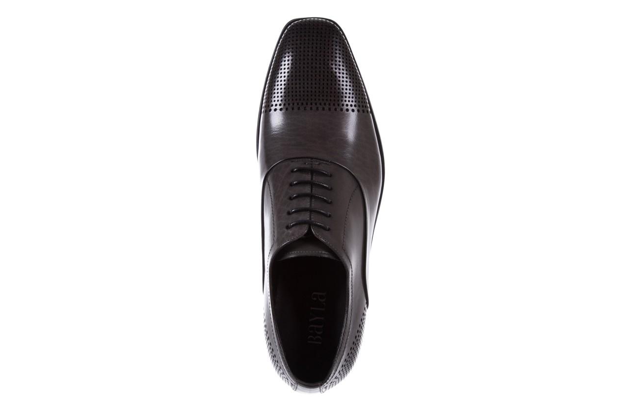 Półbuty bayla-122 at1328-1 grey, szary, skóra naturalna  - obuwie wizytowe - buty męskie - mężczyzna 10