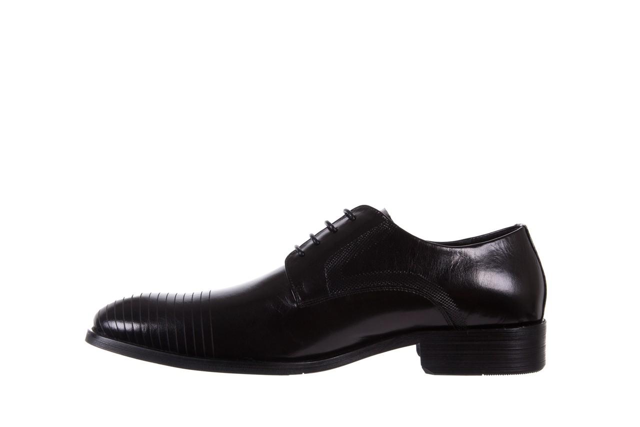 Półbuty bayla-122 at1329-1 black, czarny, skóra naturalna  - obuwie wizytowe - buty męskie - mężczyzna 8