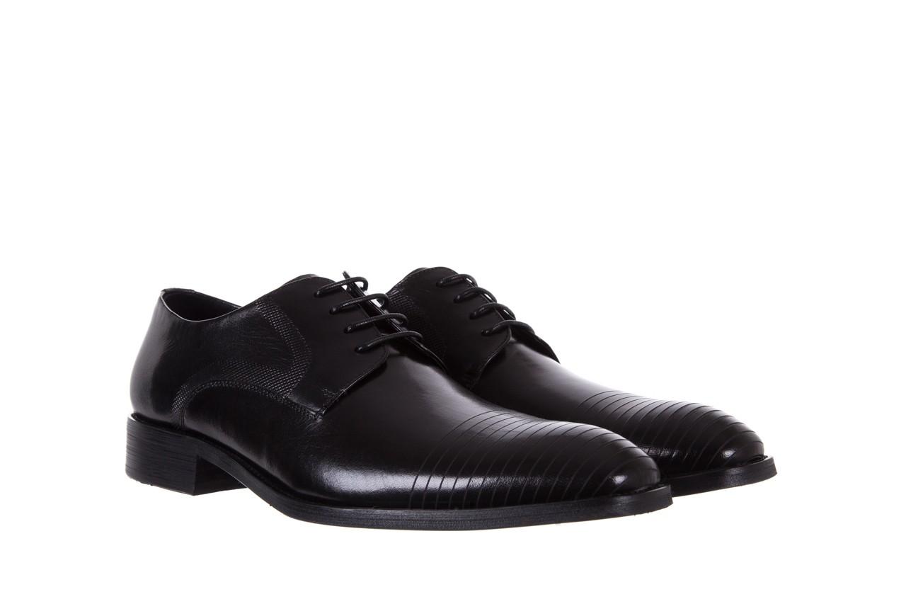 Półbuty bayla-122 at1329-1 black, czarny, skóra naturalna  - obuwie wizytowe - buty męskie - mężczyzna 7