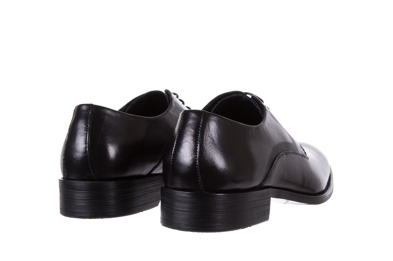 Półbuty bayla-122 at1329-1 black, czarny, skóra naturalna  - obuwie wizytowe - buty męskie - mężczyzna 9
