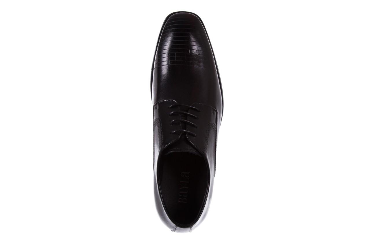 Półbuty bayla-122 at1329-1 black, czarny, skóra naturalna  - obuwie wizytowe - buty męskie - mężczyzna 10